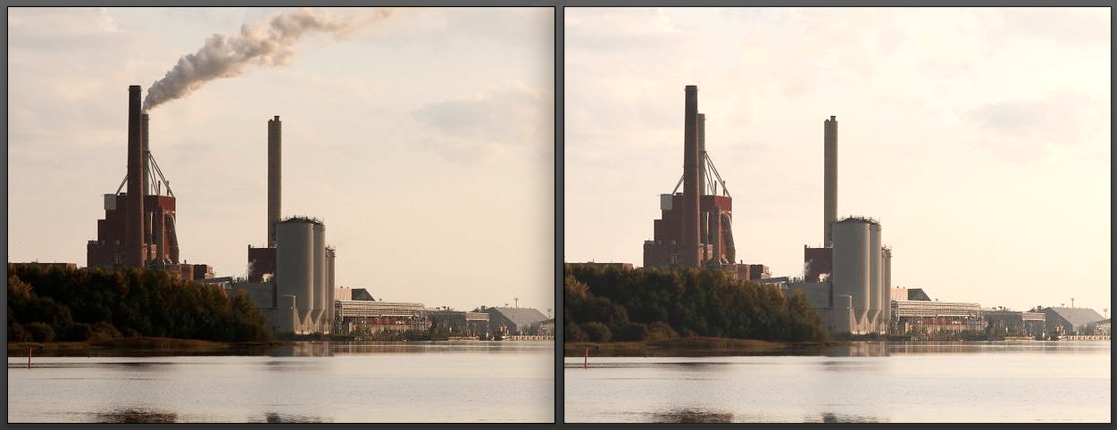 smokestack before and after